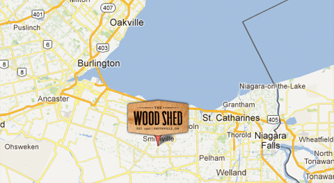 Map to the Wood Shed