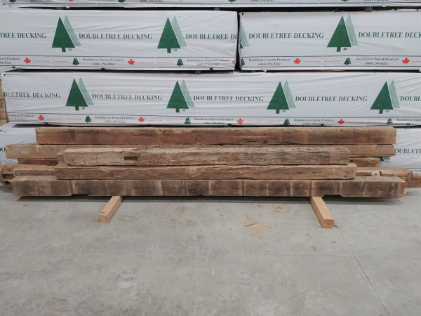 Reclaimed Hand-Hewn Barn Beams
