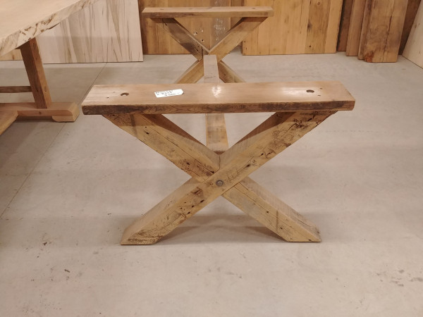 Table - Reclaimed Pine X-Base