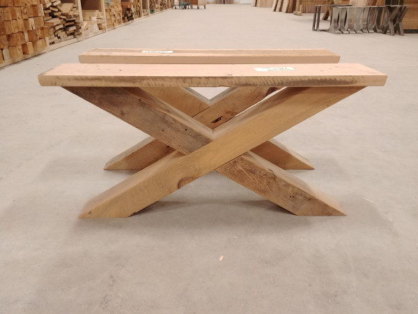 Coffee Table - Reclaimed Pine X-Base