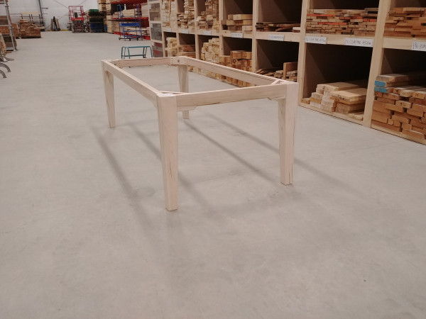 Table - Wormy Maple Tapered Base