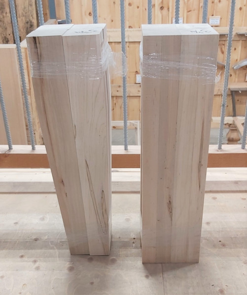 Table Legs - Wormy Maple